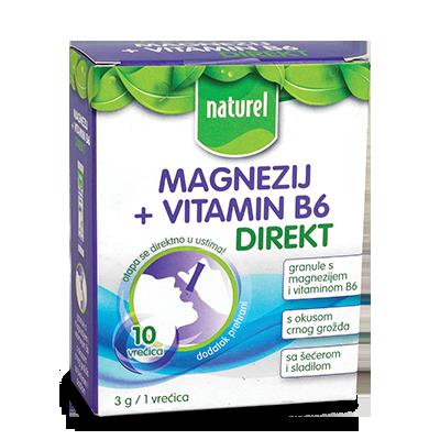 DIREKT VITAMIN NATUREL MAGNEZIJUM+VITAMIN B6 30G